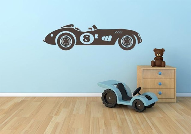 Race car wall decals by GRAPHIOS